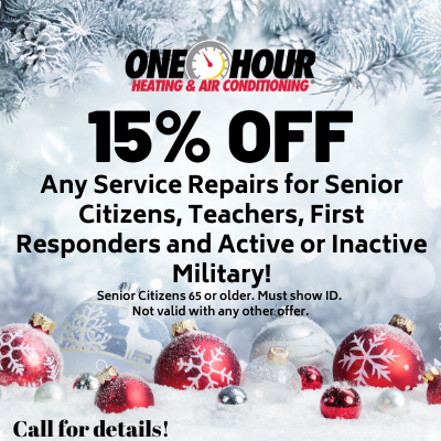 15 % off coupon for Seniors, teachers, first responders, or active or inactive military